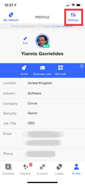 Contacts export to CSV screenshot1