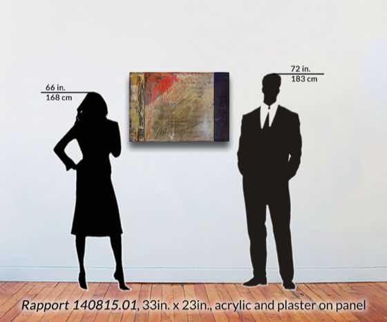 acrylic, plaster on wood panel, 33 in. x 23 in. (84 cm x 58 cm)