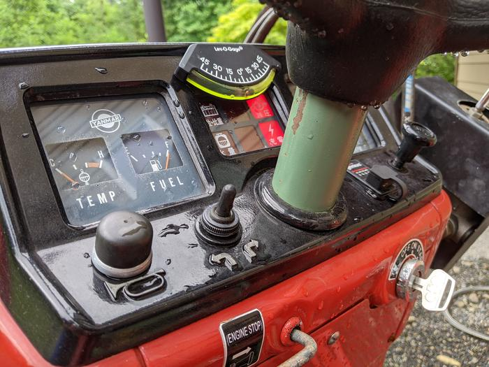 Yanmar Tractor Rebuilt Dash with broken electronics