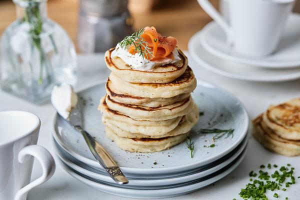 Mini Scallion Pancake Blinis