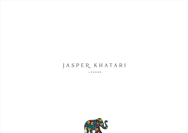 Refined logo design for Savile Row tailor, Jasper Khatari