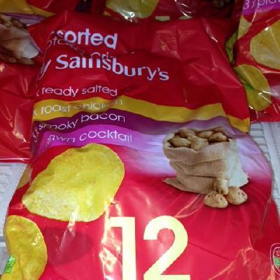 Sainsburys Assorted crisps