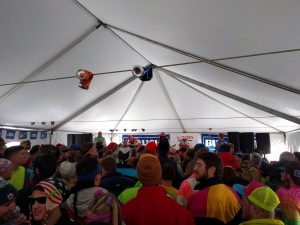Fast Times Boston jamming in the Bud Light Concert Tent outside of The Bunyan Room