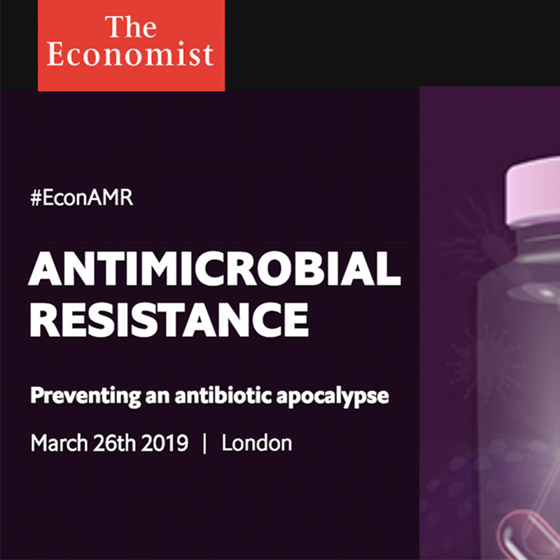 Join us at The Economist Antimicrobial Resistance Summit on 26.03.2019 in London