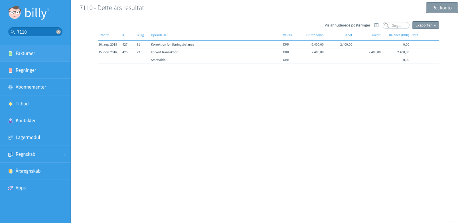 Registrer betaling