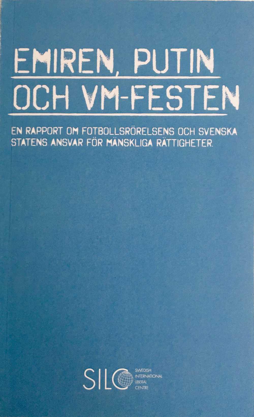 Framsida av publikationen Emiren, Putin och VM-festen
