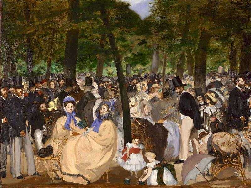 Manet's 1862 painting Music in the Tuileries was a precursor of his far more famous Dejuner Sur l'Herbe.