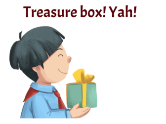 Boy holding a treasure box