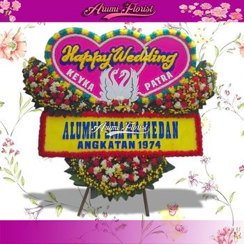 Bunga Papan Happy Wedding 5