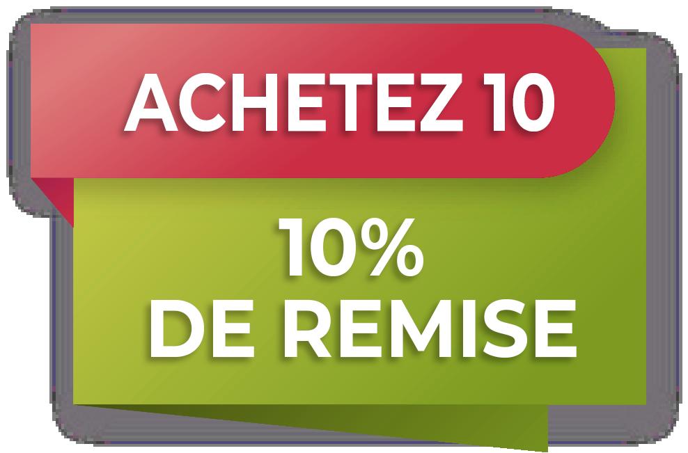 PROMOTION Achetez 10 pièces et économisez 10%