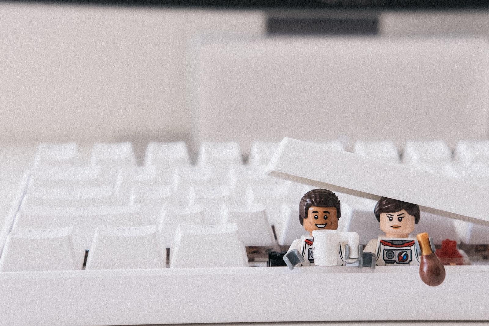 Lego people in keyboard
