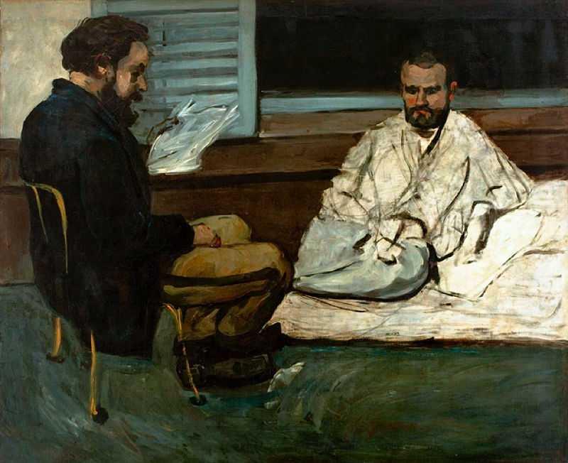 Paul Cézanne, Paul Alexis Reading to Émile Zola, 1869–1870, São Paulo Museum of Art