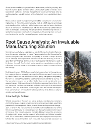 A Manufacturer's Playbook for Evidence-Based Quality Management Optimization Left