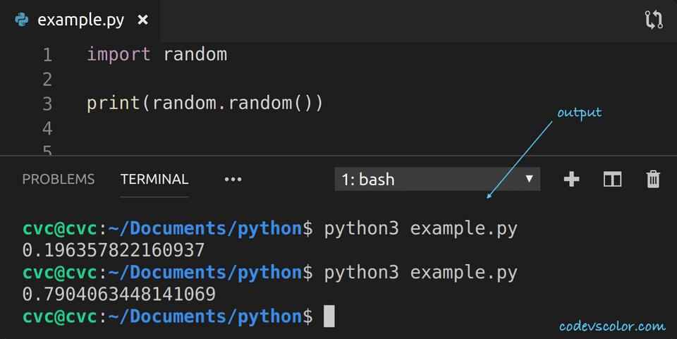 python print random float
