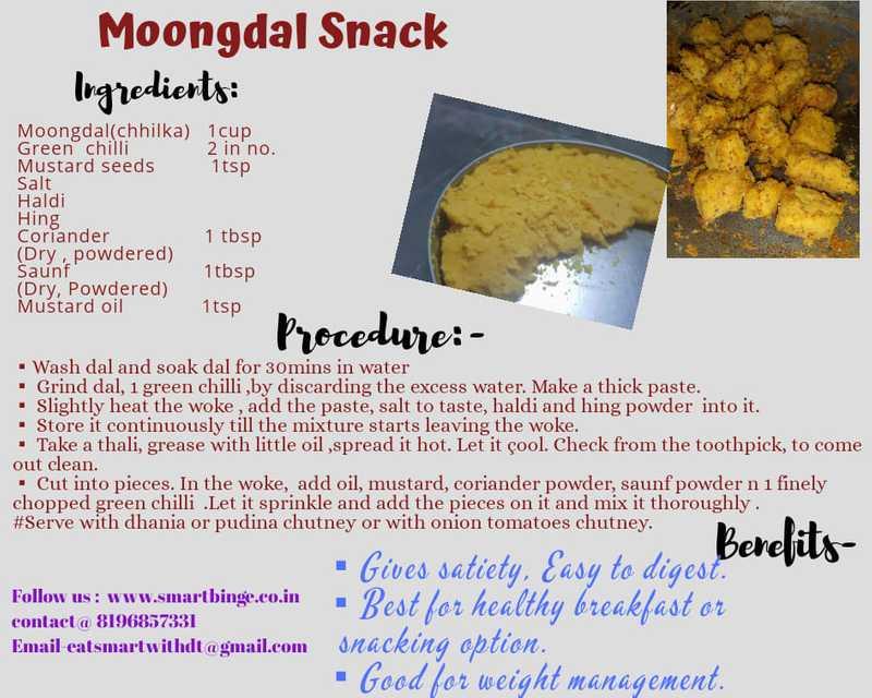 recipe of moong dal snacks