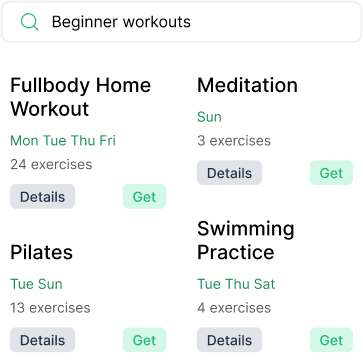 You can find all kinds of workouts made by others for Mylo.