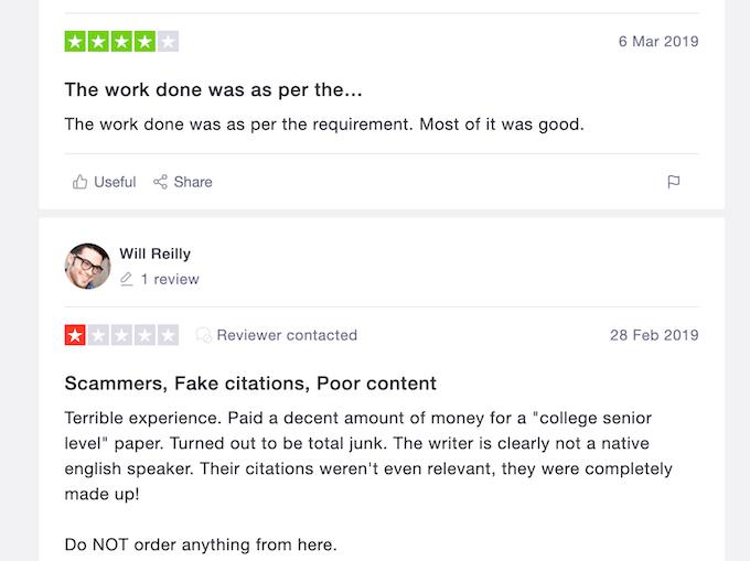 boomessays.com reviews on trustpilot.com
