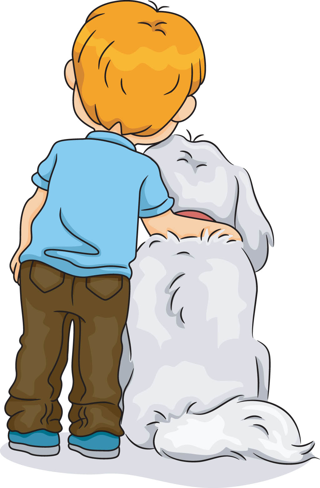 Boy with dog: Ruff and Kabir - A story for kids