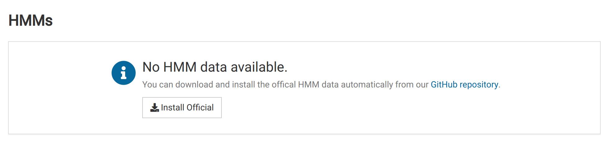 No HMM Data Found