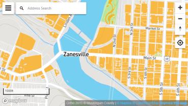 City of Zanesville Print & Interactive Maps – City of Zanesville, Zanesville Ohio Map on