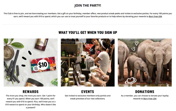 Join the party loyalty email