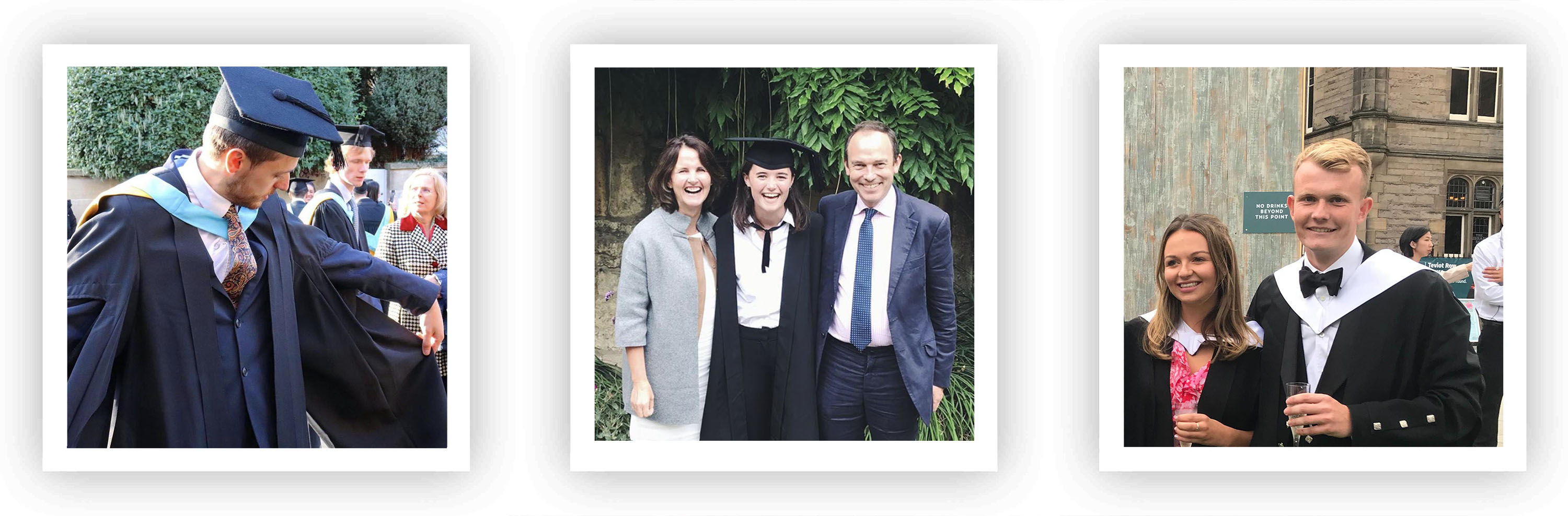 JJ, Annabel and James – some of our recent grad joiners