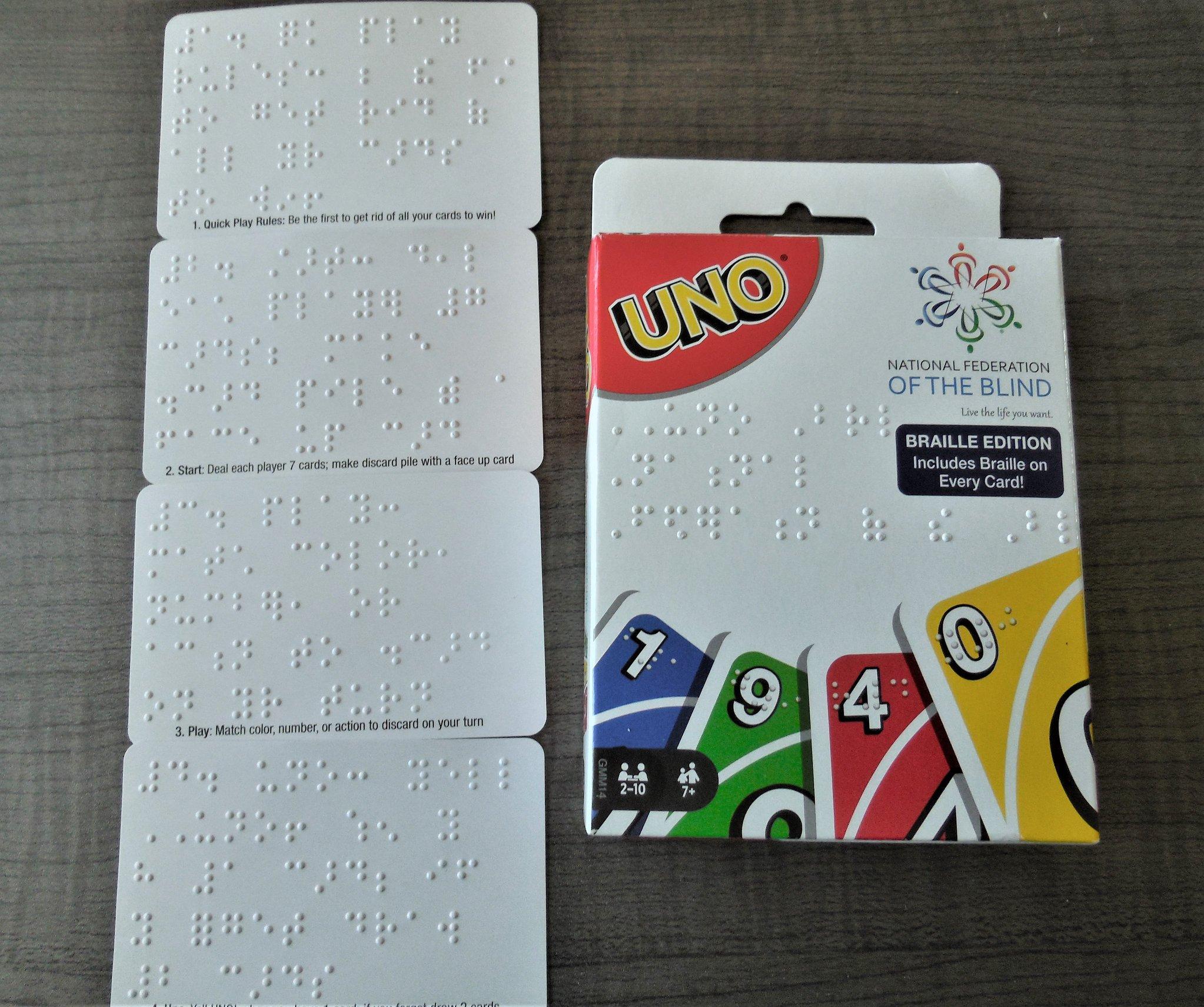 Braille Uno Card Game