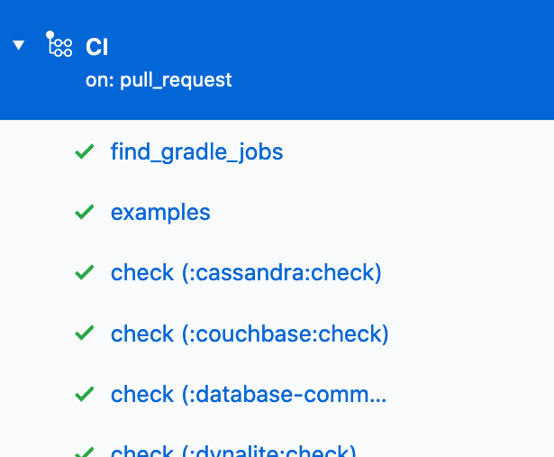 Part of the list of build jobs generated on-the-fly