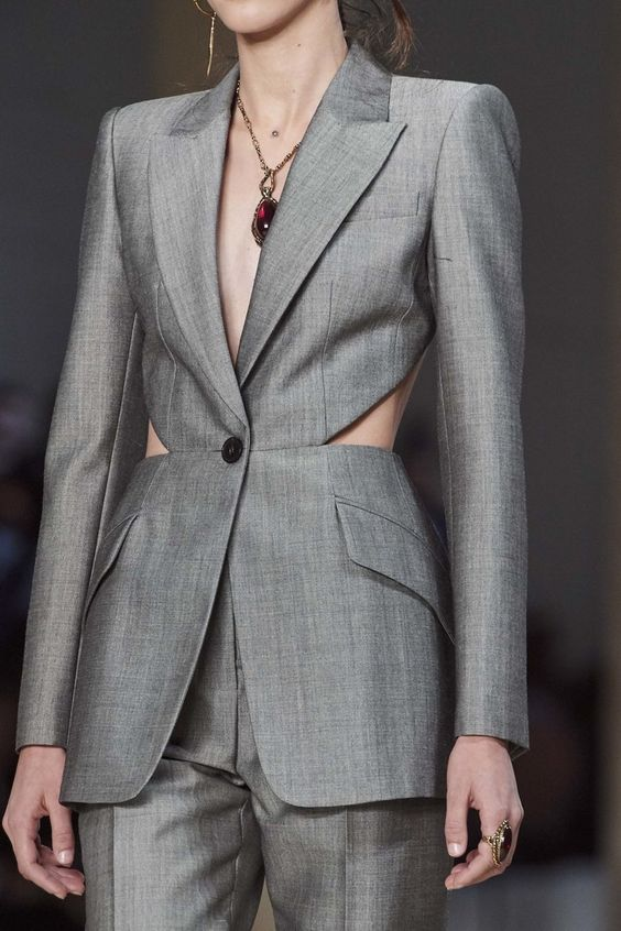 Veste de tailleur couture Alexander Mc Queen