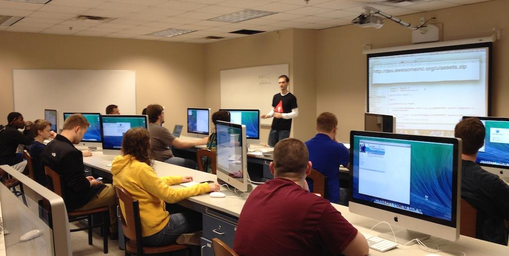 Classroom for iOS course at UPike