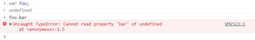 Screenshot of Uncaught TypeError: Cannot read property