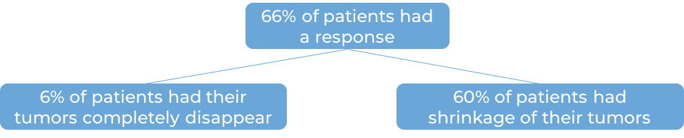 Results after treatment with Opdivo (diagram)