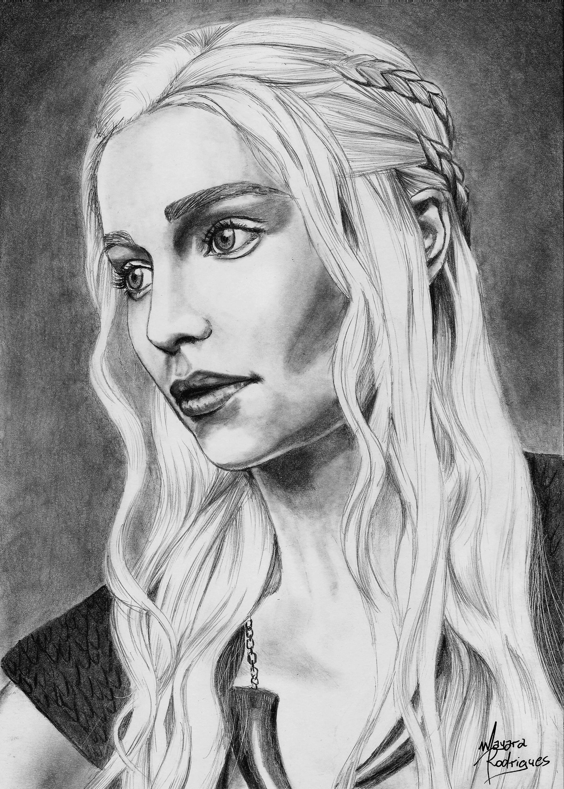 Desenho da Daenerys
