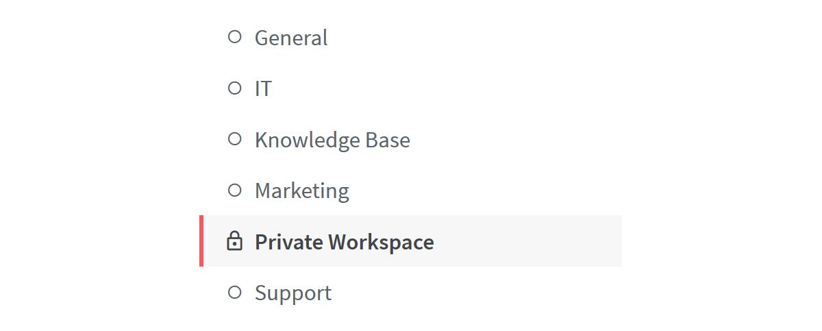 Private wiki workspace