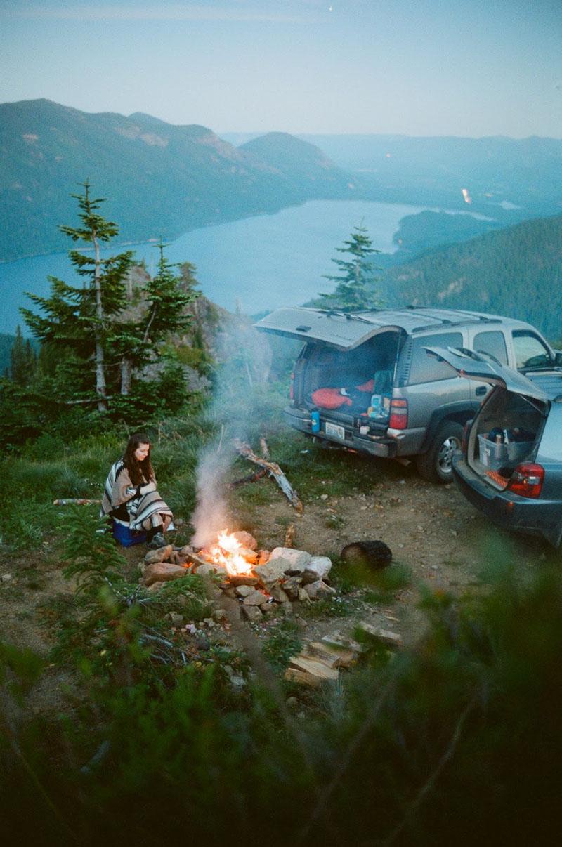 car camping along Snoqualmie Pass
