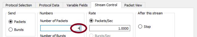 IMIX stream2 - 4 packets