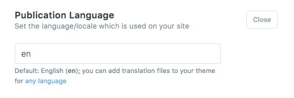 Publication Language