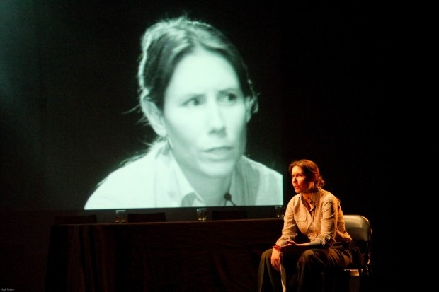 Margaret Evans playing Jim Watts in Section 98 as part of HATCH at Harbourfront Centre