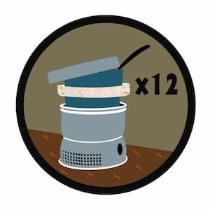 12x Trangia spejdermærke