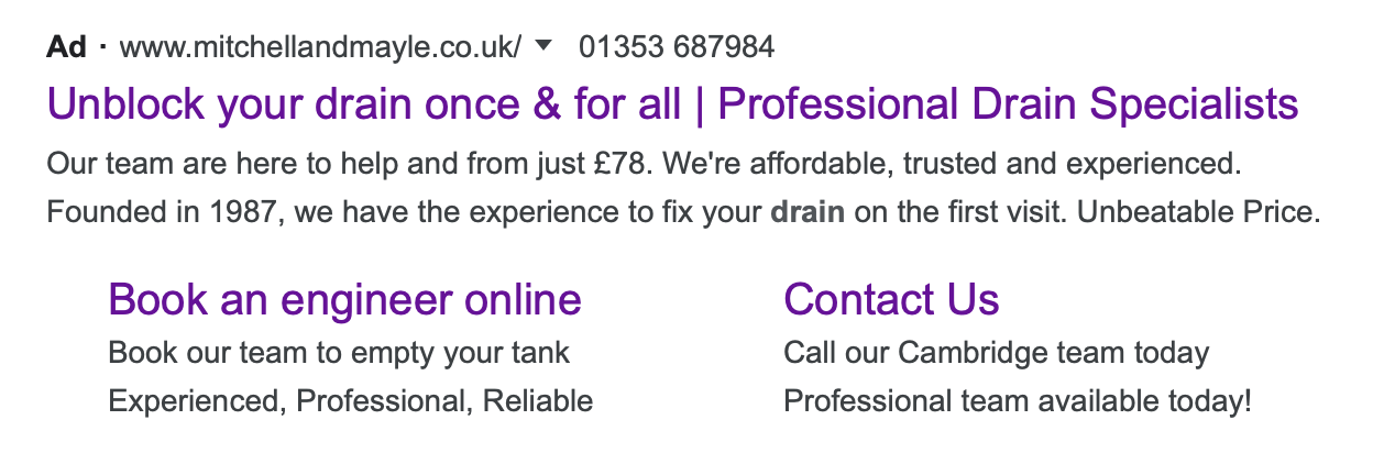 A Better example of reflecting your customers result through your Google Ad copy