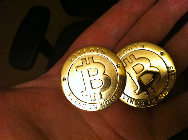 Physical bitcoins - Photo Credit: http://www.flickr.com/photos/zcopley/5914558006/