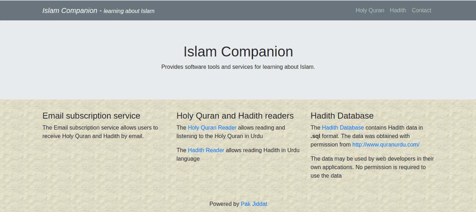 Islam Companion Website