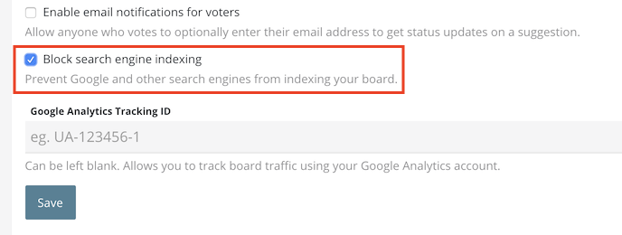 how to block search engine indexing