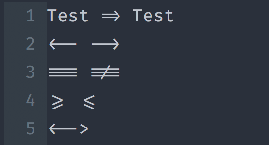 font Fira Code ใน Vim