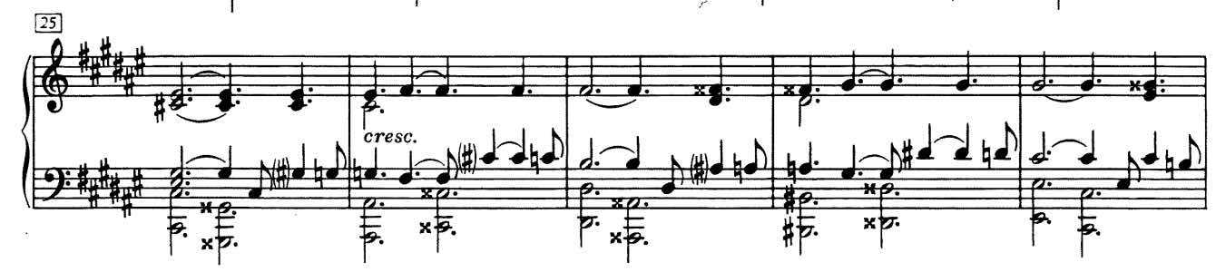 Example of chromaticism in the 2nd movement in the fourth Sonata Op.30 by Scriabin
