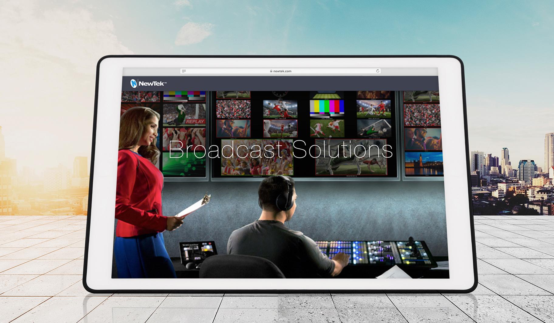 NewTek Website Tablet