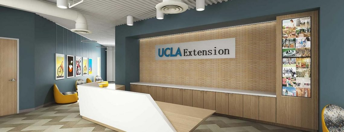 Inside of the UCLA Extension building