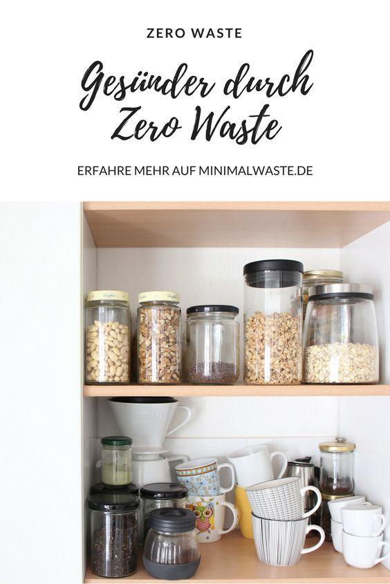 Pinterest Cover zu 'Wie du durch Zero Waste gesünder lebst'