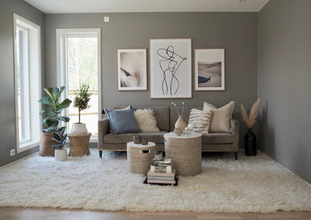Lekker stue i skandinavisk stil