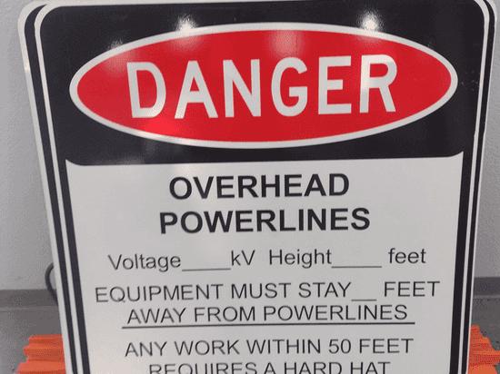 Custom powerline sign